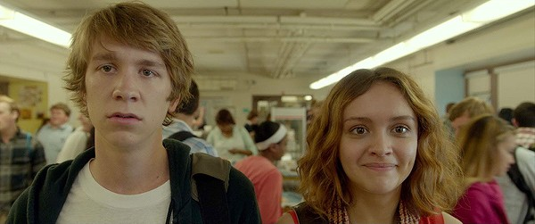 High schoolers Greg (Thomas Mann) and Rachel (Olivia Cooke) grapple with mortality in the Sundance sweeper Me and Earl and the Dying Girl. - COURTESY