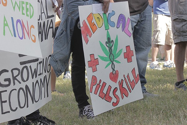 The push for medical marijuana in Texas, including SA, is picking up steam. - ALEX RAMIREZ
