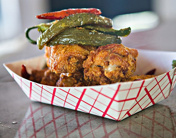 Clear your sinuses with Attagirl's Nashville-style hot chicken. - DAN PAYTON