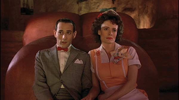 Diane Salinger as Simone and Paul Reubens as Pee-wee Herman in 'Pee-wee's Big Adventure.' - COURTESY