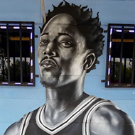 San Antonio Artist Adds DeMar DeRozan to Spurs Mural at South Side Restaurant