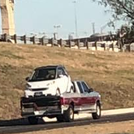 This San Antonio Driver Seriously Put a Smart Car in the Back of a Pickup Truck