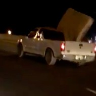 Watch a San Antonio Motorist Try to Hang onto a Mattress Before It Flies Down the Highway
