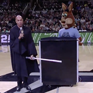 Spurs Coyote Professed His Eternal Love for Baby Yoda at Thursday's Game