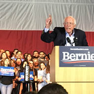 Democratic Frontrunner Bernie Sanders Plays the Hits to a Packed House at San Antonio Rally