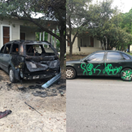 San Antonio Artist's Cars Vandalized and Set On Fire