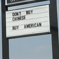 Chester's Hamburgers Posts Problematic Anti-China Message on Restaurant Sign