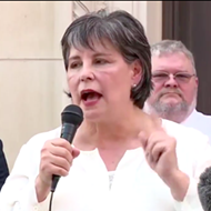 At Rally, Bexar County Republican Chair Cynthia Brehm Claims Coronavirus Is a Democratic Hoax