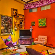 This Artist's Residence for Sale in San Antonio's Deco District Is a Psychedelic Explosion of Color