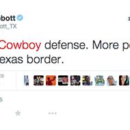 Texas Governor Greg Abbott Compares Dallas Cowboys Defense to 'Porous Border'