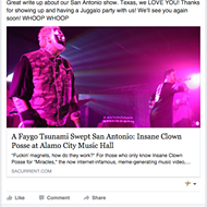 Insane Clown Posse Gives SA Current Shout Out