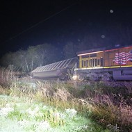 Train Derailment Spills Coal by Hot Wells