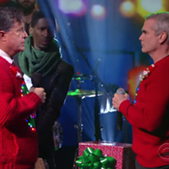 Henry Rollins Dons Ugly Sweater Sings 'Carol of the Bells' with Colbert