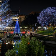 The San Antonio River Walk holiday lights will remain lit until Valentine's Day