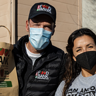 Actress Eva Longoria volunteers with San Antonio Food Bank following devastating winter storm