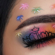 Woman Creates Puro San Antonio Makeup Looks with Fiesta-Inspired Skyline, Spurs Tributes