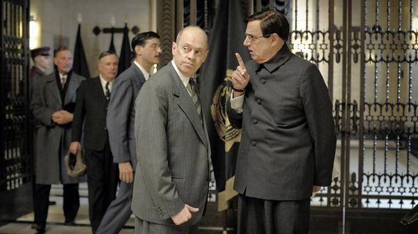 Steve Buscemi, left, as Nikita Khrushchev and Jeffrey Tambor as Georgy Malenkov - IFC FILMS