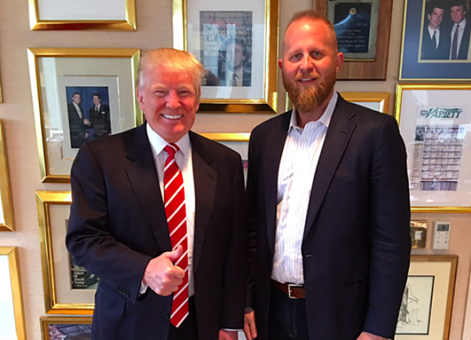 Brad Parscale (right) stepped in it on Twitter this week. - FACEBOOK