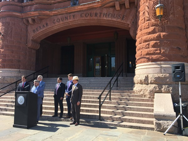 Martin J. Phipps of Phipps Anderson Deacon LLP attended Wednesday's press conference to discuss the recent lawsuit against opioid manufacturers, promoters and distributors. - MEGAN RODRIGUEZ