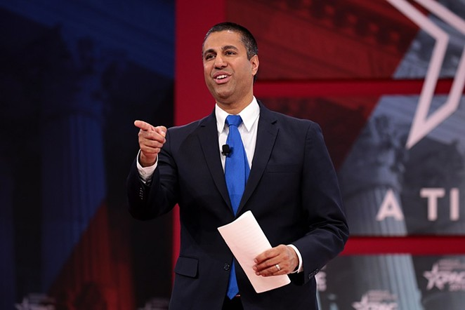Trump-appointed FCC Chairman Ajit Pai led the vote to dismantle net neutrality rules. - WIKIMEDIA COMMONS