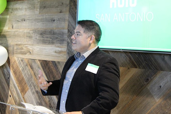 Councilman Manny Pelaez speaks during at event at Hulu's Viewer Experience Operations headquarters. - PHOTO VIA MANNY PELAEZ'S FACEBOOK PAGE