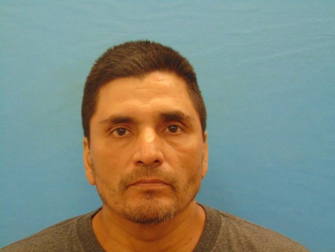 The face of this suspect launched a thousand puns. - VIA NEW BRAUNFELS POLICE DEPARTMENT FACEBOOK PAGE