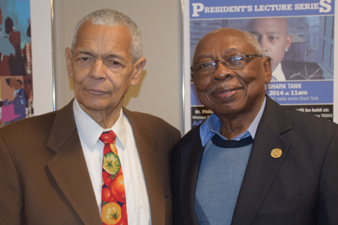 NAACP San Antonio President Oliver Hill (right), pictured with NAACP national Chairman Julian Bond, said his group is still looking for volunteers to help run the group's national convention. - VIA NAACP SAN ANTONIO'S WEBSITE