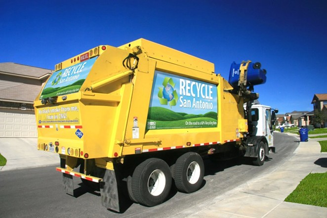 The City of S.A. is looking for a virtual training system so trainees can get the feel of driving one of these big yellow beauties. - VIA CITY OF SAN ANTONIO SOLID WASTE MANAGEMENT DEPARTMENT WEBSITE
