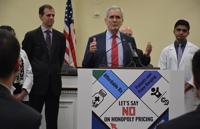 Rep. Lloyd Doggett discusses his new bill at a Washington D.C. press conference. - COURTESY PHOTO