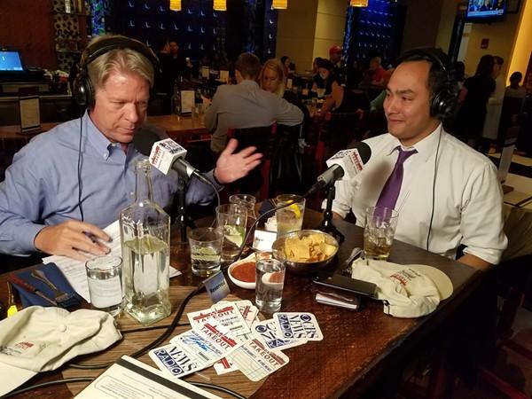 Joaquin Castro appears on CBS's The Takeout podcast with White House correspondent Major Garrett. - VIA CBS NEWS