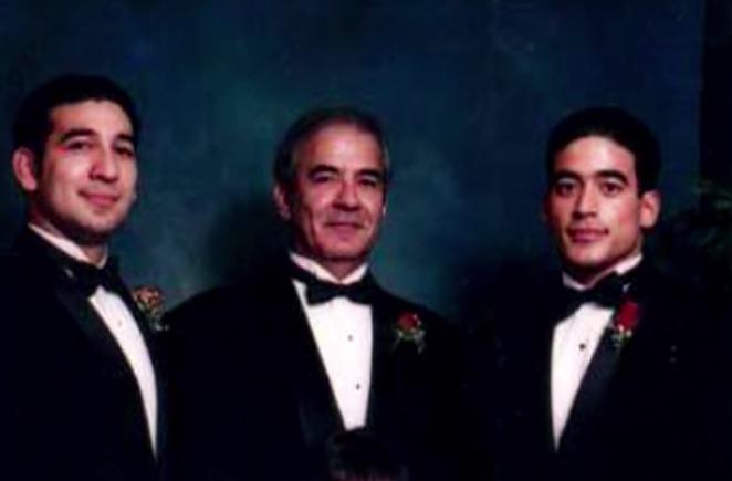 (L-R) Michael LaHood Jr., Michael LaHood Sr., Nico LaHood - NETFLIX