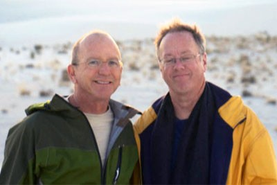 Judge Steven Kirkland with his husband Mark Pathie - COURTESY