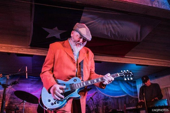 Kevin Russell plays guitar and six-string ukulele with Shiny Ribs and formerly with the Gourds. - VIA SHINYRIBS' FACEBOOK PAGE