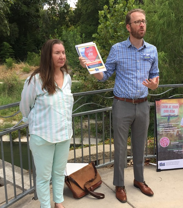 Luke Metzger and Annalisa Peace discuss Environment Texas' new report on the state's contaminated water. - SANFORD NOWLIN