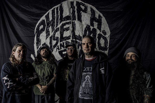 Philip H. Anselmo & the Illegals, after pushing back a tour so Anselmo could rest up from back surgery, rocked The Rock Box last night, gingerly. - VIA EARSPLIT PUBLIC RELATIONS' WEBPAGE