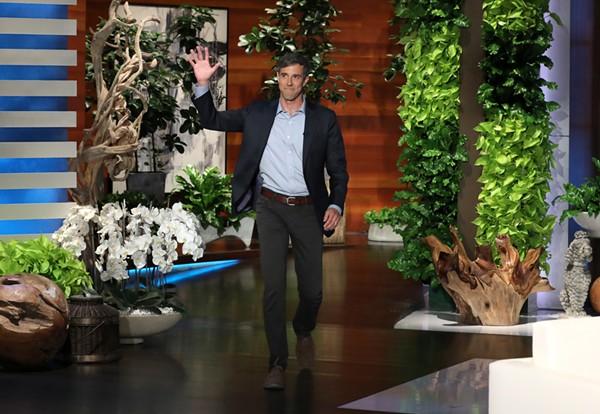 "Beto O'Rourke during his appearance on ""The Ellen DeGeneres Show"" on Sept. 5 - MICHAEL ROZMAN/WARNER BROS."