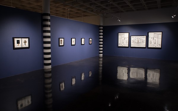 A recent James Smolleck exhibition Dawkins curated at the Southwest School of Art - COURTESY