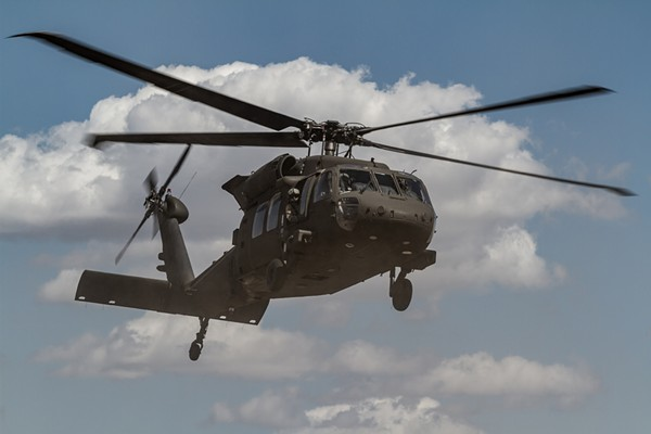 A U.S. Army Blackhawk helicopter takes off. - U.S. ARMY