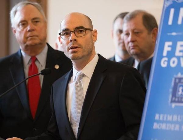 Dennis Bonnen (center) is considered an ally of former Texas House Speaker Joe Straus. - VIA DENNIS BONNEN'S FACEBOOK