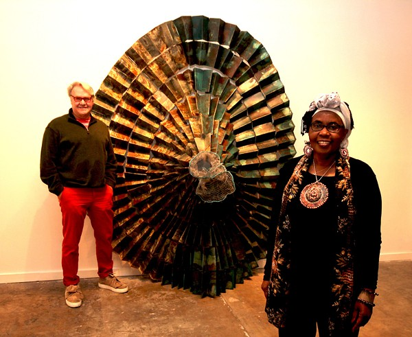 San Antonio artists Gary Sweeney (left) and Naomi Wanjiku at Clamp Light Artist Studios & Gallery - PHOTO COURTESY OF GARY SWEENEY