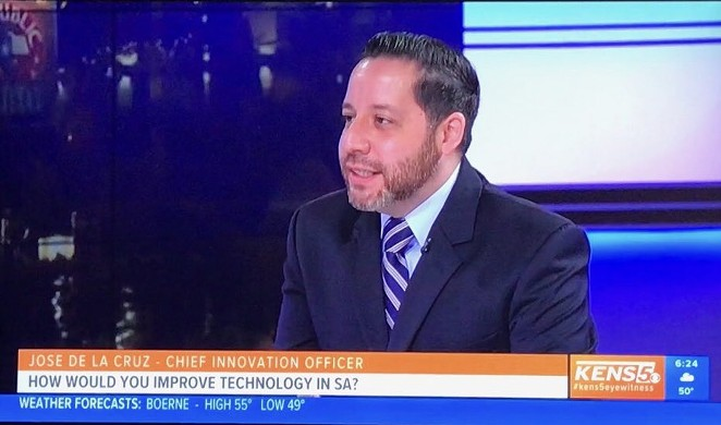 Jose De La Cruz during a recent television appearance. - VIA @JDLC_123'S TWITTER ACCOUNT