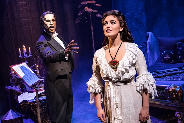 Quentin Oliver Lee as the Phantom and Eva Tavares as Christine - PHOTO BY MATTHEW MURPHY