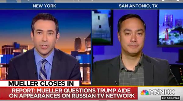 "San Antonio Democratic Rep. Joaquin Castro says he ""absolutely"" believes Roger Stone perjured himself. - YOUTUBE / MSNBC"