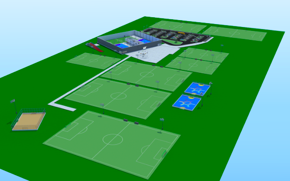 An artist's rendering of Soccer Central's proposed $6.2 million facility. - COURTESY PHOTO