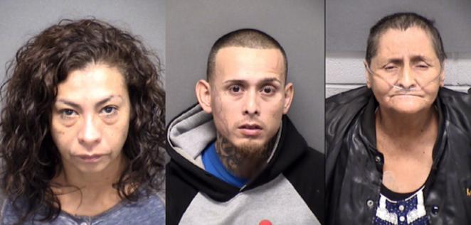 (L-R) Angie Torres, Christopher Davila, Beatrice Sampayo - BEXAR COUNTY JAIL
