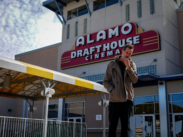 Posing in front of the North Park Alamo Drafthouse. - JOSIAH AMAZE BOONE/FACEBOOK