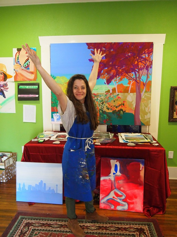 On and Off Fred artist Gabbe Grodin poses in her Deco District studio. - COURTESY OF BIHL HAUS ARTS