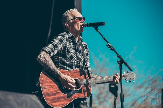 Everclear frontman Art Alexakis rocking out with his acoustic out. - FACEBOOK, EVERCLEAR