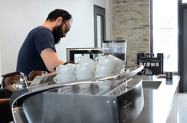 """Brown Coffee Co. Owner Aaron Blanco is ready to expand his business to offer more than just """"delicious coffee."""" - LEA THOMPSON"""