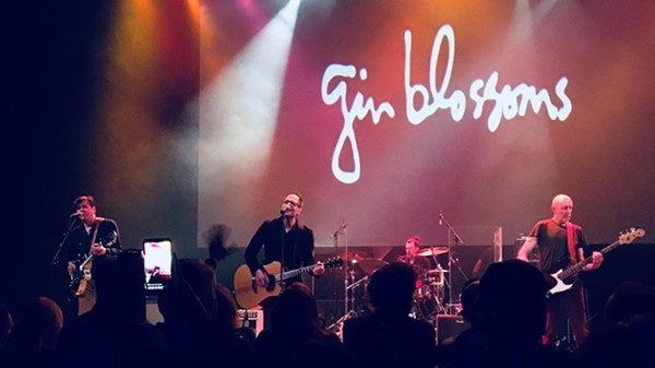 The Gin Blossoms perform Friday night at the Aztec Theatre. - MIKE MCMAHAN